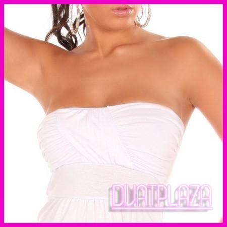 White Party Női top, felső, csőtop húzott mellrész több színben