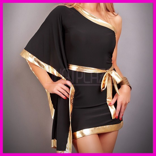 Ferdevállas Denevérujj Hatású Nyári Miniruha Kimono