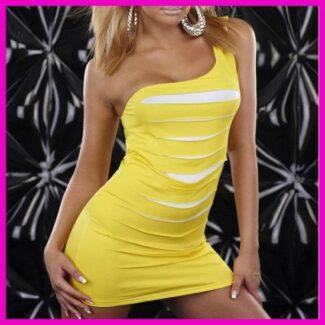 Női nyári ruha miniruha party ruha egyvállas szaggatott elejű a99bdaa866
