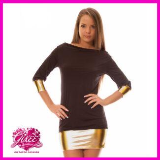 GIXEE Miniruha, party ruha metal passzés vállra húzható