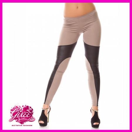 GIXEE Bőrbetétes legging cicanadrág