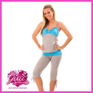 GIXEE fitness ruha, szabadidő garnitúra capri fazonú