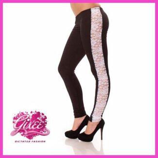 GIXEE Legging leggings csipkés hosszú nadrág