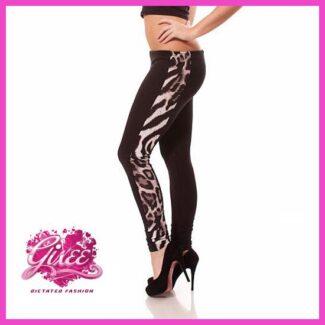 GIXEE Legging leggings párduc hosszú nadrág