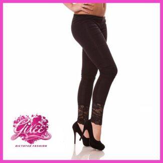 GIXEE Legging leggings csipkés passzés hosszú nadrág