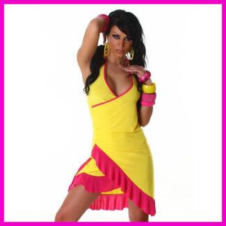 Női nyári ruha latinos fodros salsa ruha 456f83a29f
