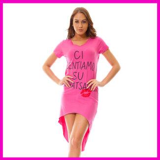 Hosszított női ruha, nyári ruha PINK