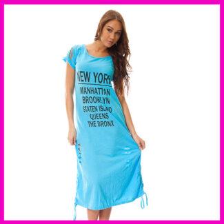 Nyári strandruha, szaggatott hosszú lenge ruha BABAKÉK