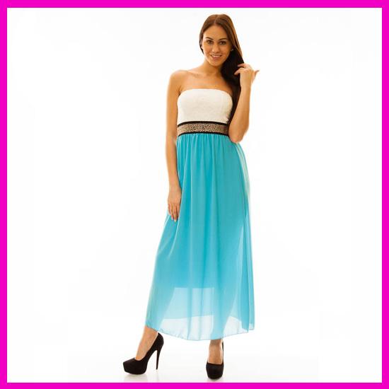 Gyönyörű alkalmi ruha, hosszú fazon KÉK