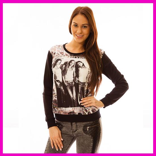 Hip-hop pulóver női felső