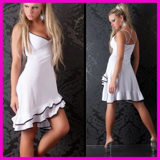 Női nyári ruha latinos fodros csinos salsa ruha X-spagettipántos