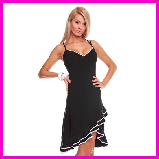 bc3b655f6a1c Női nyári ruha latinos fodros csinos salsa ruha X-spagettipántos ...