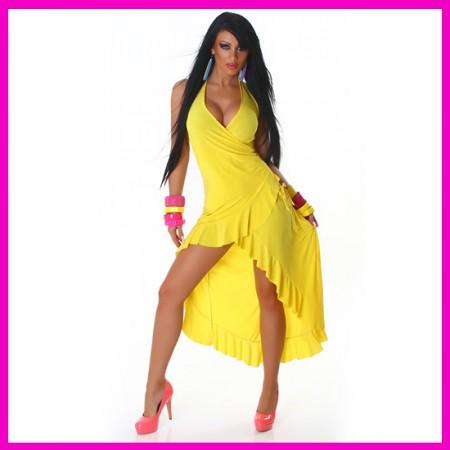 Női nyári ruha latinos fodros salsa ruha hosszított