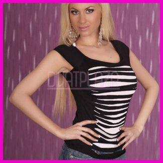 Divatos női top szaggatot felső