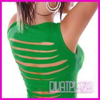 Női trikó, ujjatlan top hátul szaggatott fazonú